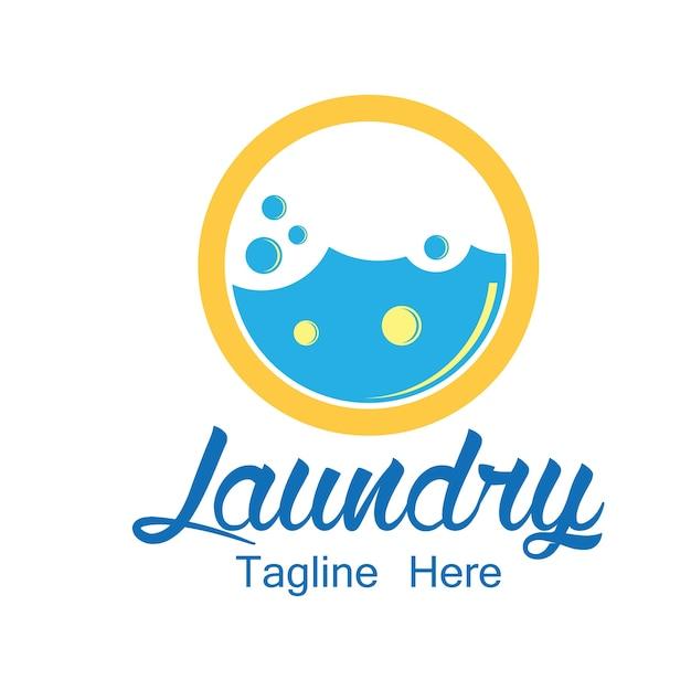 Logo di lavanderia con spazio di testo per il tuo slogan Vettore gratuito