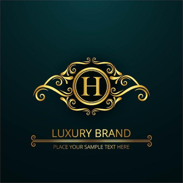 Logo di lusso lettera h | Scaricare vettori gratis