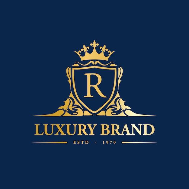 Logo di lusso premium Vettore Premium