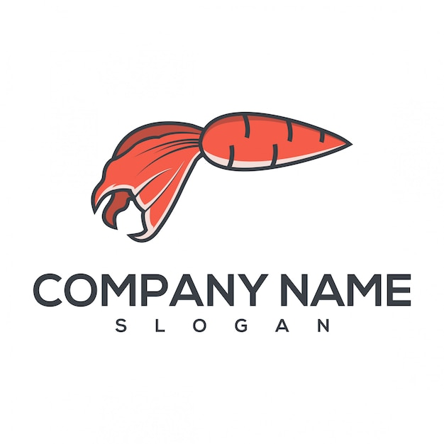 Logo di pesce carota Vettore Premium