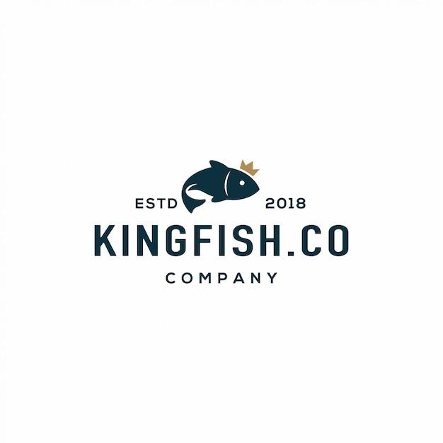 Logo di pesce Vettore Premium