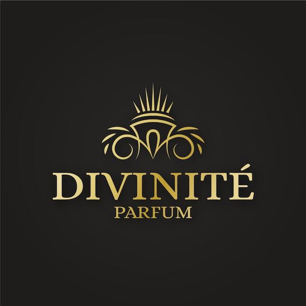 Logo di profumi di lusso Vettore gratuito