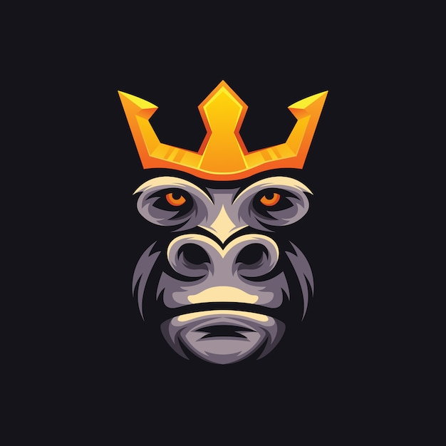 Logo di re kong e sport dell'illustrazione Vettore Premium