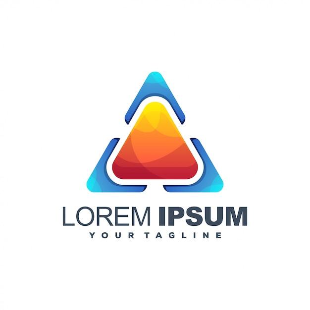Logo di riproduzione multimediale Vettore Premium
