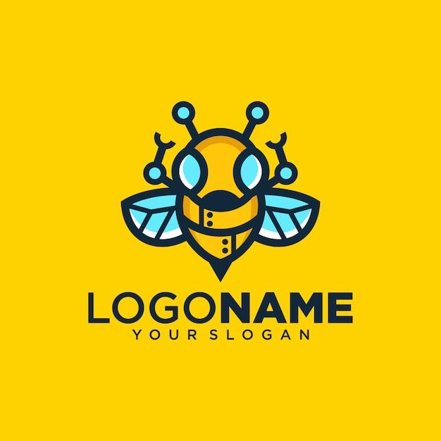 Logo di robot ape creativa Vettore Premium