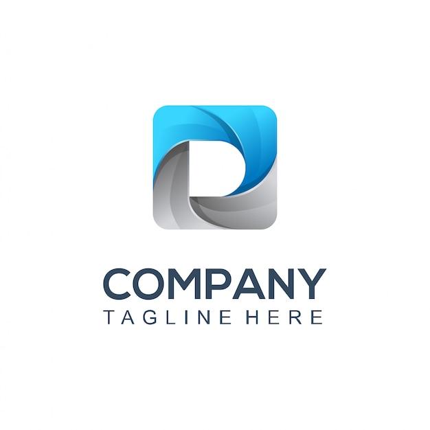Logo di scatto fotografico Vettore Premium