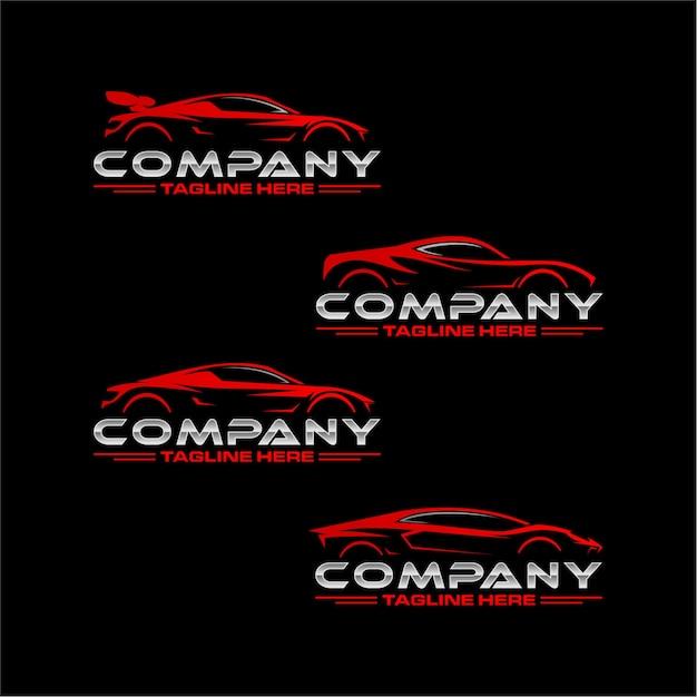 Logo di super car pack Vettore Premium