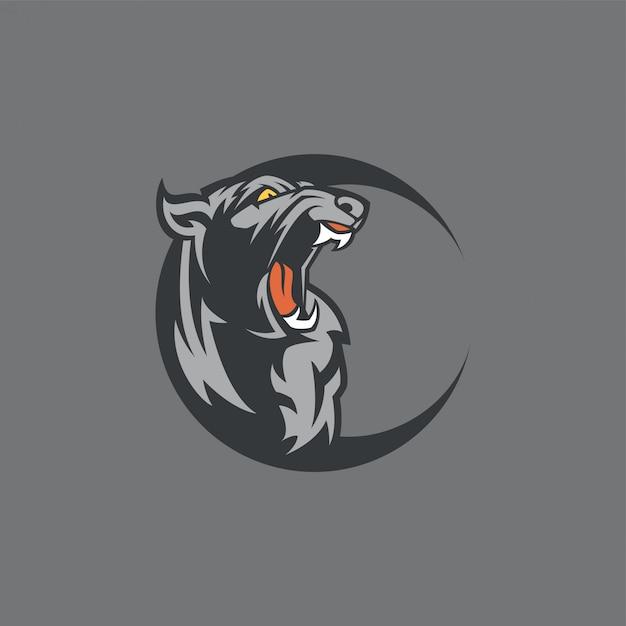 Logo e-sport panther Vettore Premium