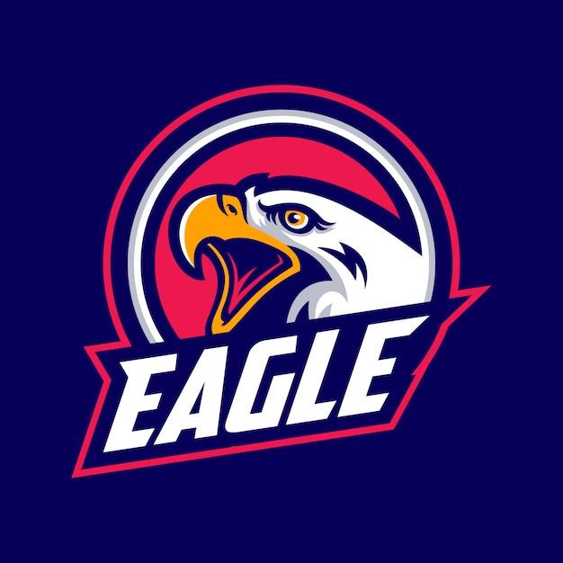 Logo eagle per una squadra sportiva Vettore Premium