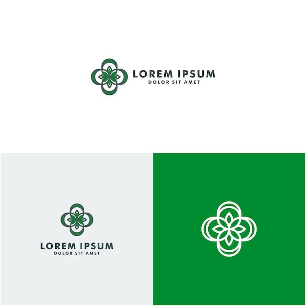 Logo eco salute Vettore Premium
