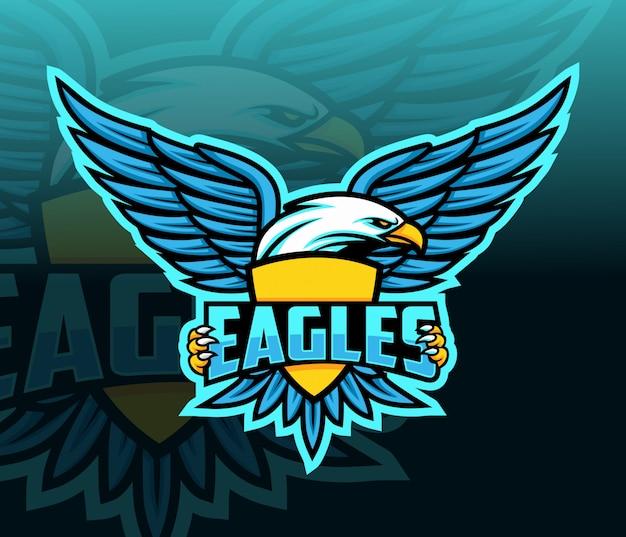 Logo esport aquila mascotte Vettore Premium