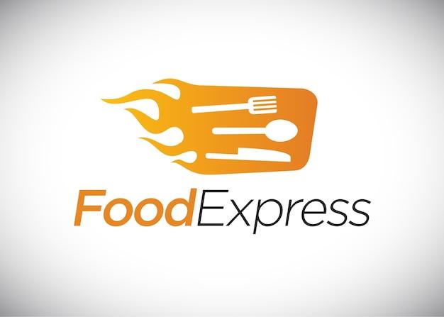 Logo espresso alimentare, fast food. Vettore Premium