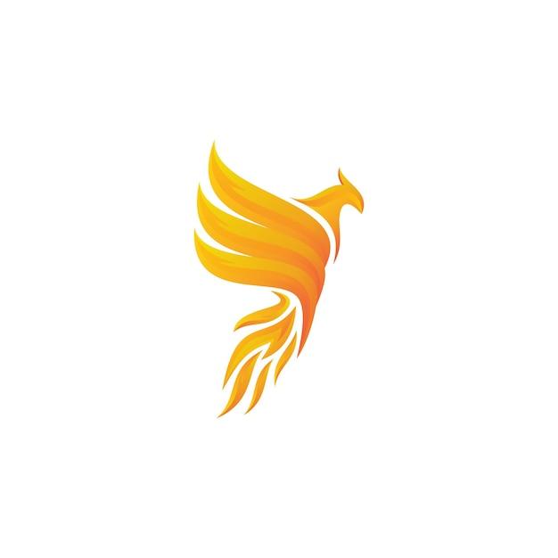 Logo fenice Vettore Premium