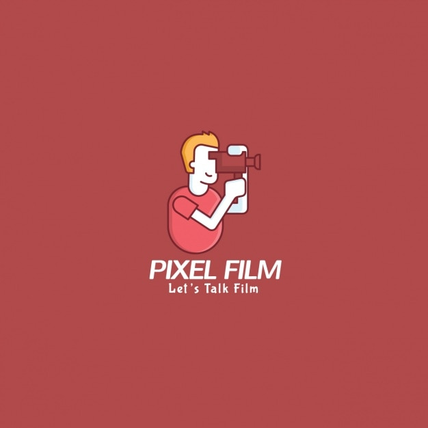 Logo Film Con Uno Sfondo Rosso Scaricare Vettori Gratis