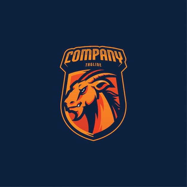 Logo goat esports Vettore Premium