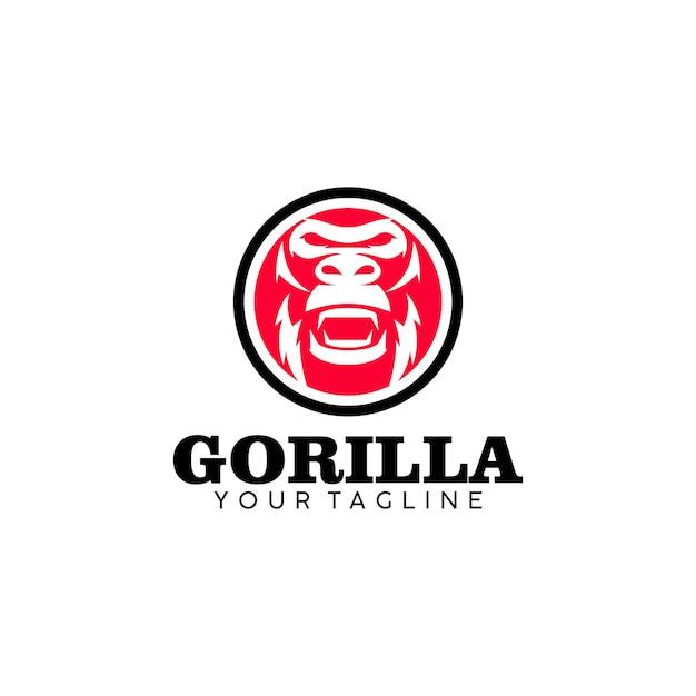Logo gorilla Vettore Premium