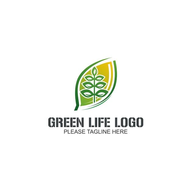 Logo greem life Vettore Premium
