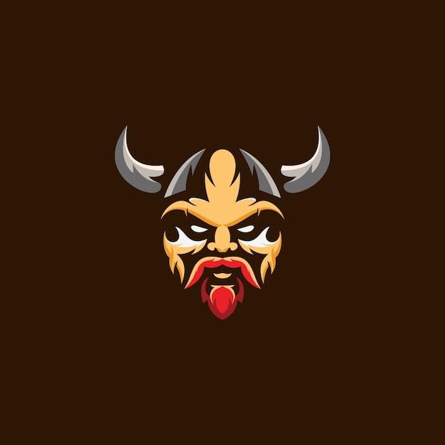 Logo head viking Vettore Premium
