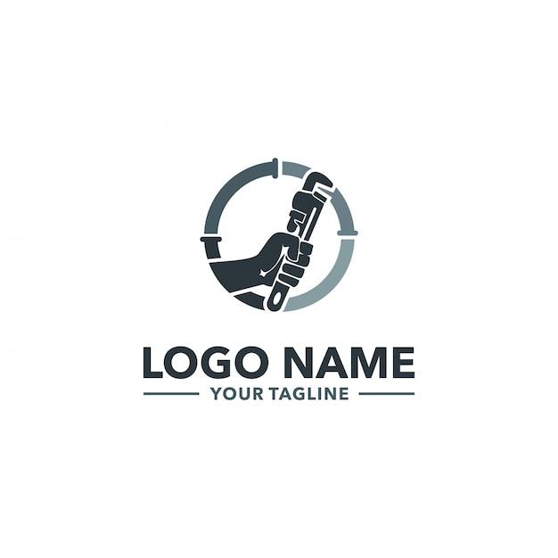 Logo idraulico Vettore Premium