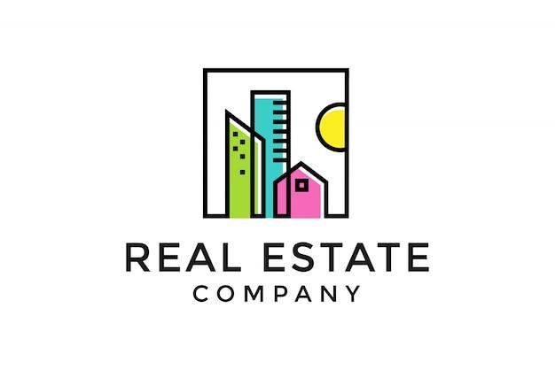 Logo immobiliare Vettore Premium