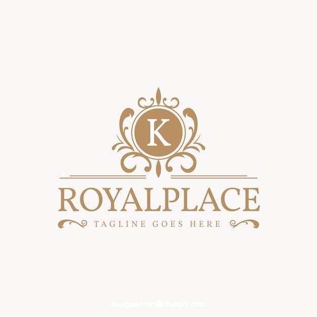 Logo in stile vintage e di lusso Vettore gratuito