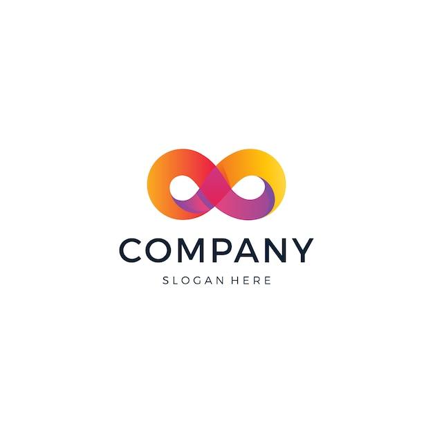 Logo infinity Vettore Premium