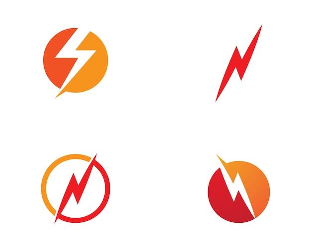 Logo lightning Vettore Premium
