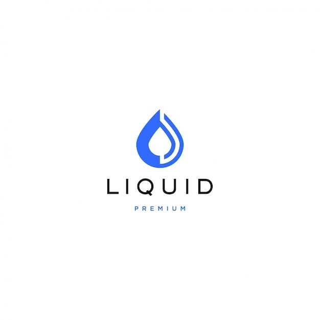 Logo liquido Vettore Premium