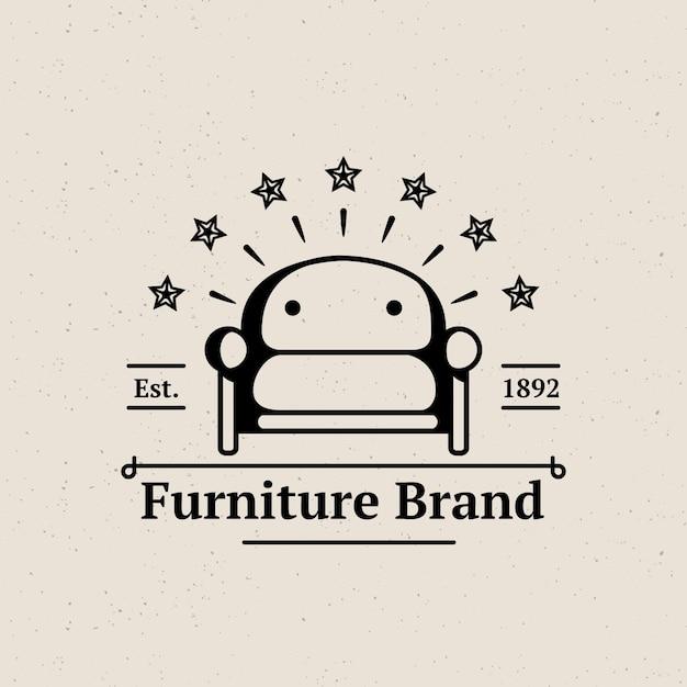 Logo minimalista per mobili retrò Vettore gratuito