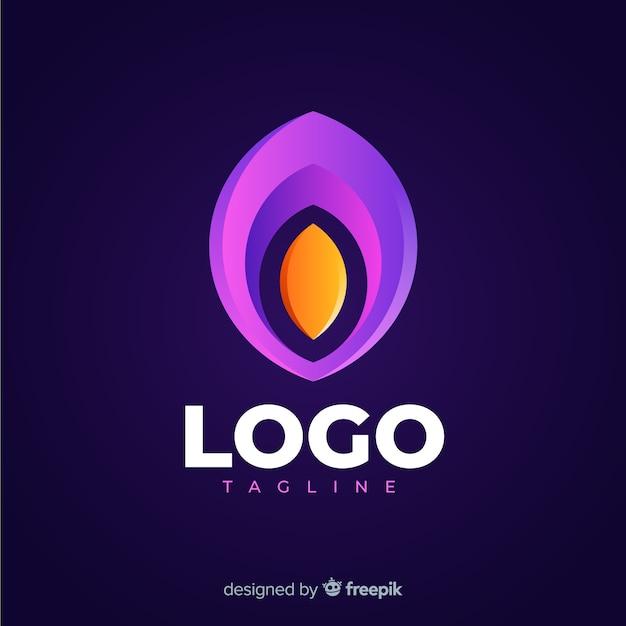 Logo moderno dei social media Vettore gratuito