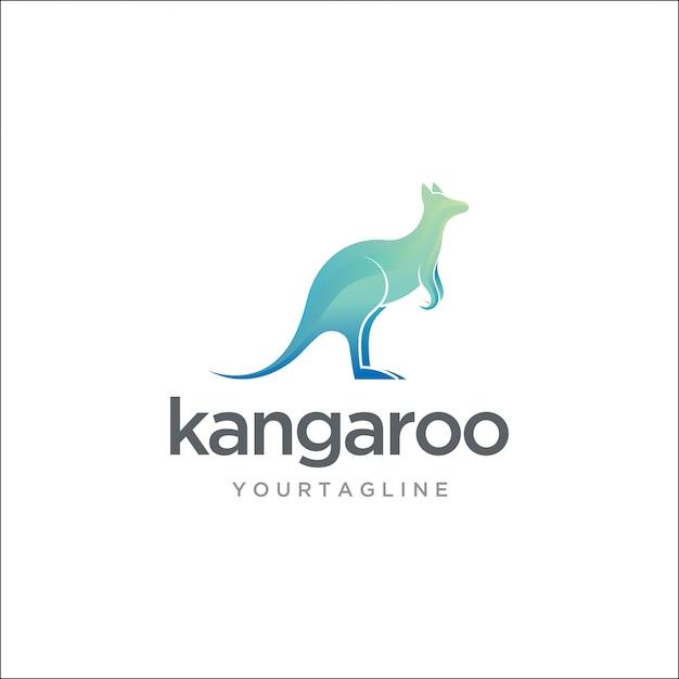 Logo moderno del canguro australiano Vettore Premium