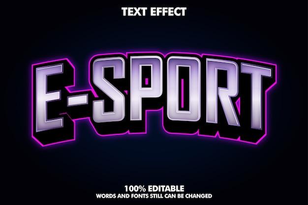 Logo moderno e-sport con luce viola Vettore gratuito