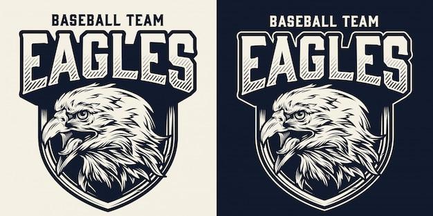 Logo monocromatico della squadra di baseball Vettore gratuito