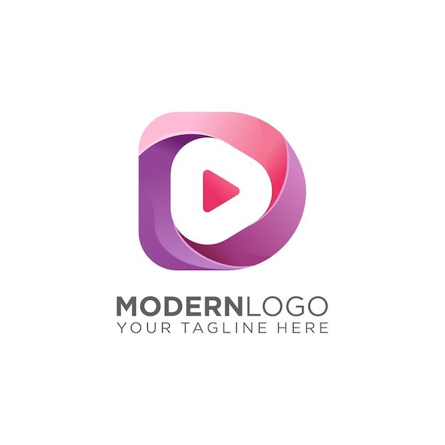 Logo multimediale Vettore Premium