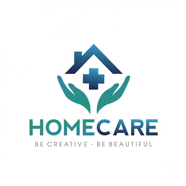 Logo ospedale, clinica, famiglia Vettore Premium