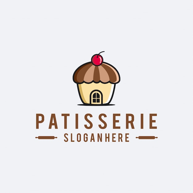 Logo patisserie baker Vettore Premium