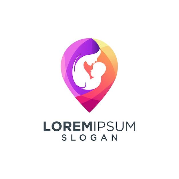 Logo per la cura della famiglia Vettore Premium