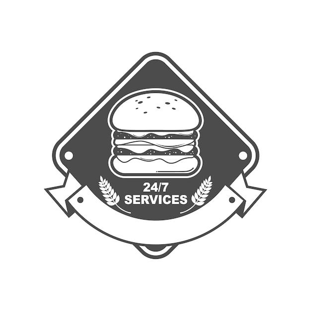 Logo per negozio di hamburger Vettore Premium