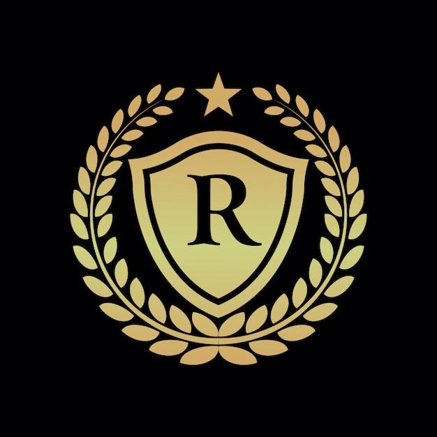 Logo reale di lusso Vettore Premium