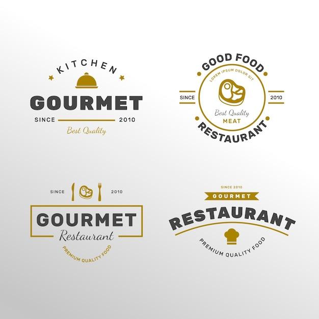 Logo ristorante retrò Vettore gratuito