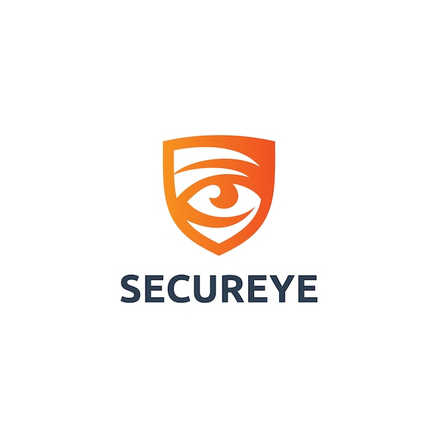 Logo secure eye Vettore Premium