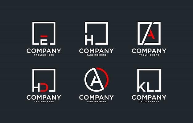 Logo set monogramma Vettore Premium
