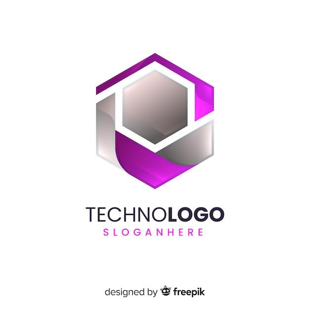 Logo sfumato Vettore gratuito