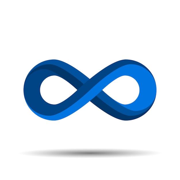 Logo simbolo di infinito Vettore Premium