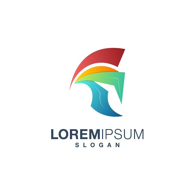 Logo spartan Vettore Premium