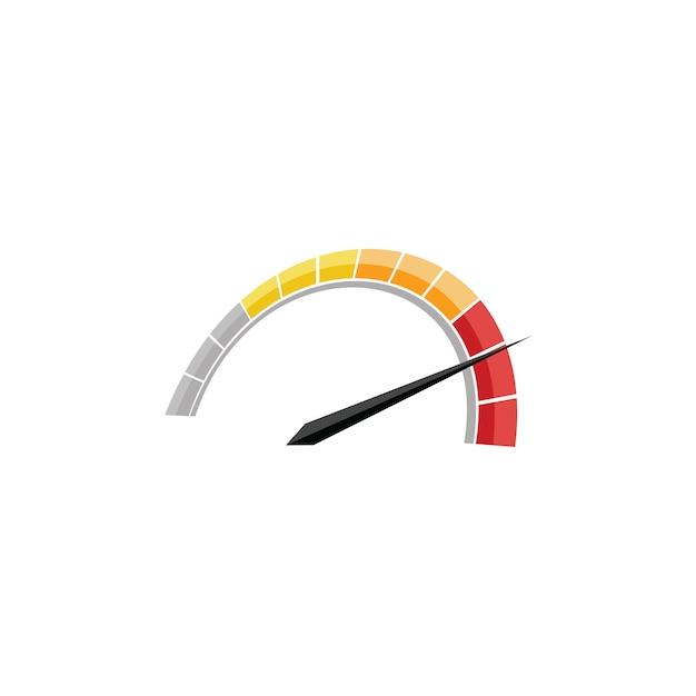 Logo speed Vettore Premium