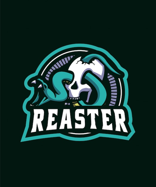 Logo sportivo snake Vettore Premium