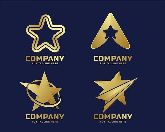 Logo star premium logo modello per azienda Vettore Premium
