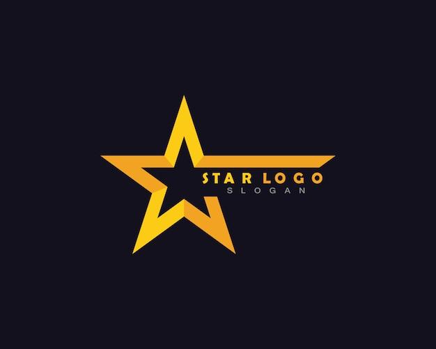 Logo stella gialla Vettore Premium