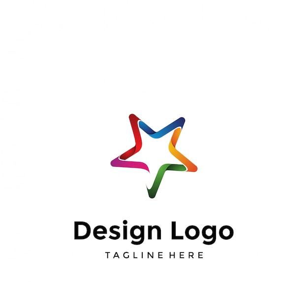 Logo stella Vettore Premium